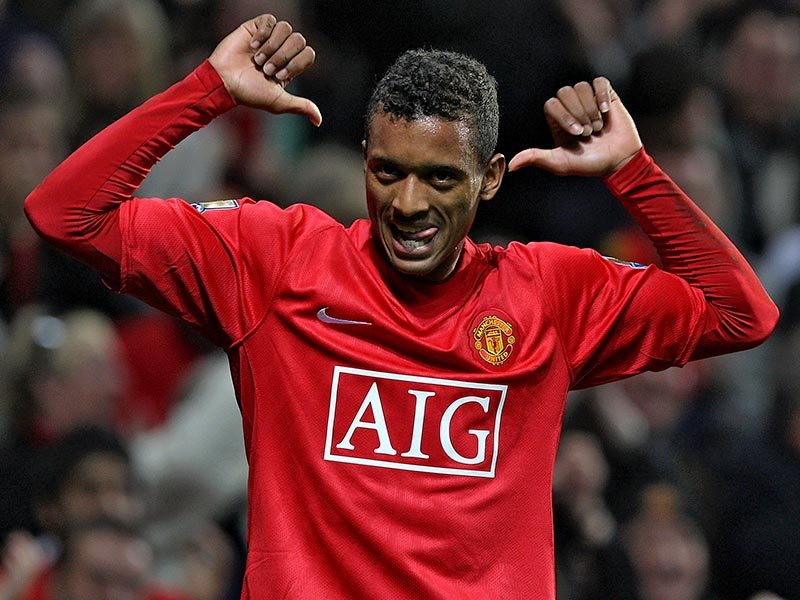 Nani spent eight years with Manchester United