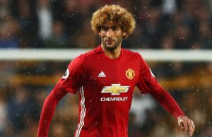 Manchester United midfielder Fellaini.