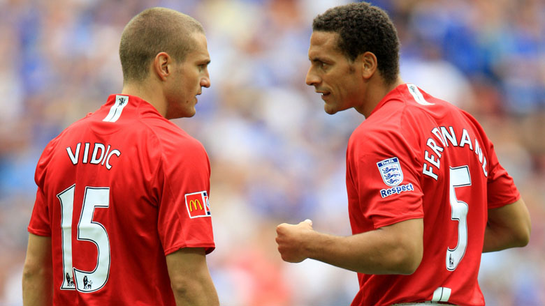Nemanja Vidic and Rio Ferdinand formked a strong defensive pairing at  Manchester United