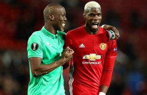 The Pogba brothers after the full-time whistle