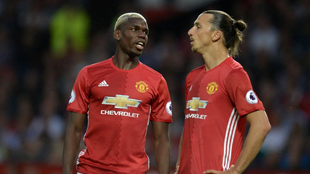Paul Pogba (left) and Zlatan Ibrahimovic (right)