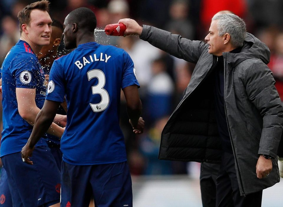 Eric Bailly Jose Mourinho Manchester United