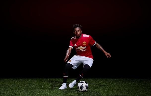 233479d8a In Pictures: Red Devils' £47m new signing poses in Man United colours for  the first time