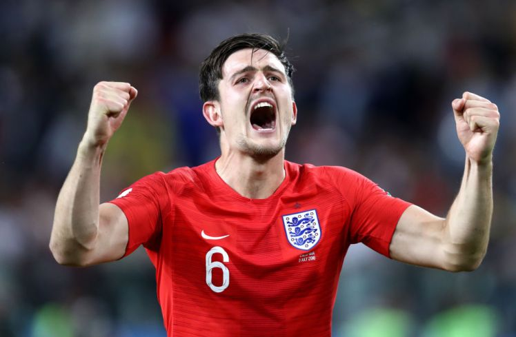Harry Maguire during a World Cup 2018 match