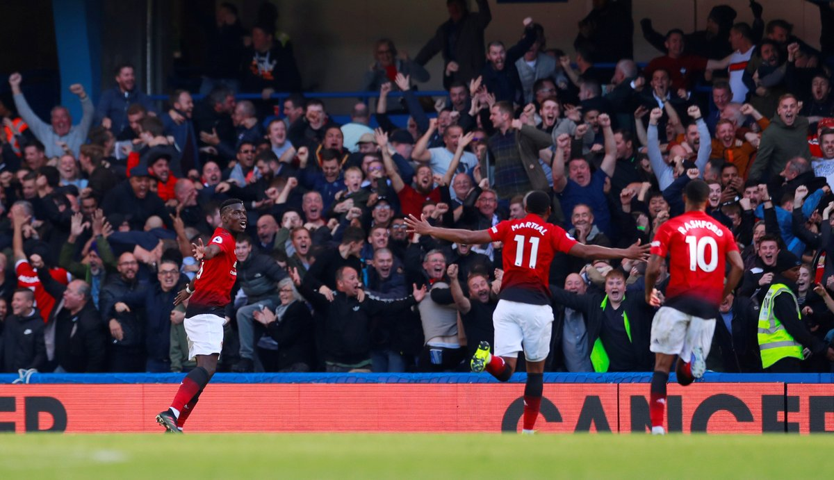 Pogba, Marshal on target as Manchester United edge Everton