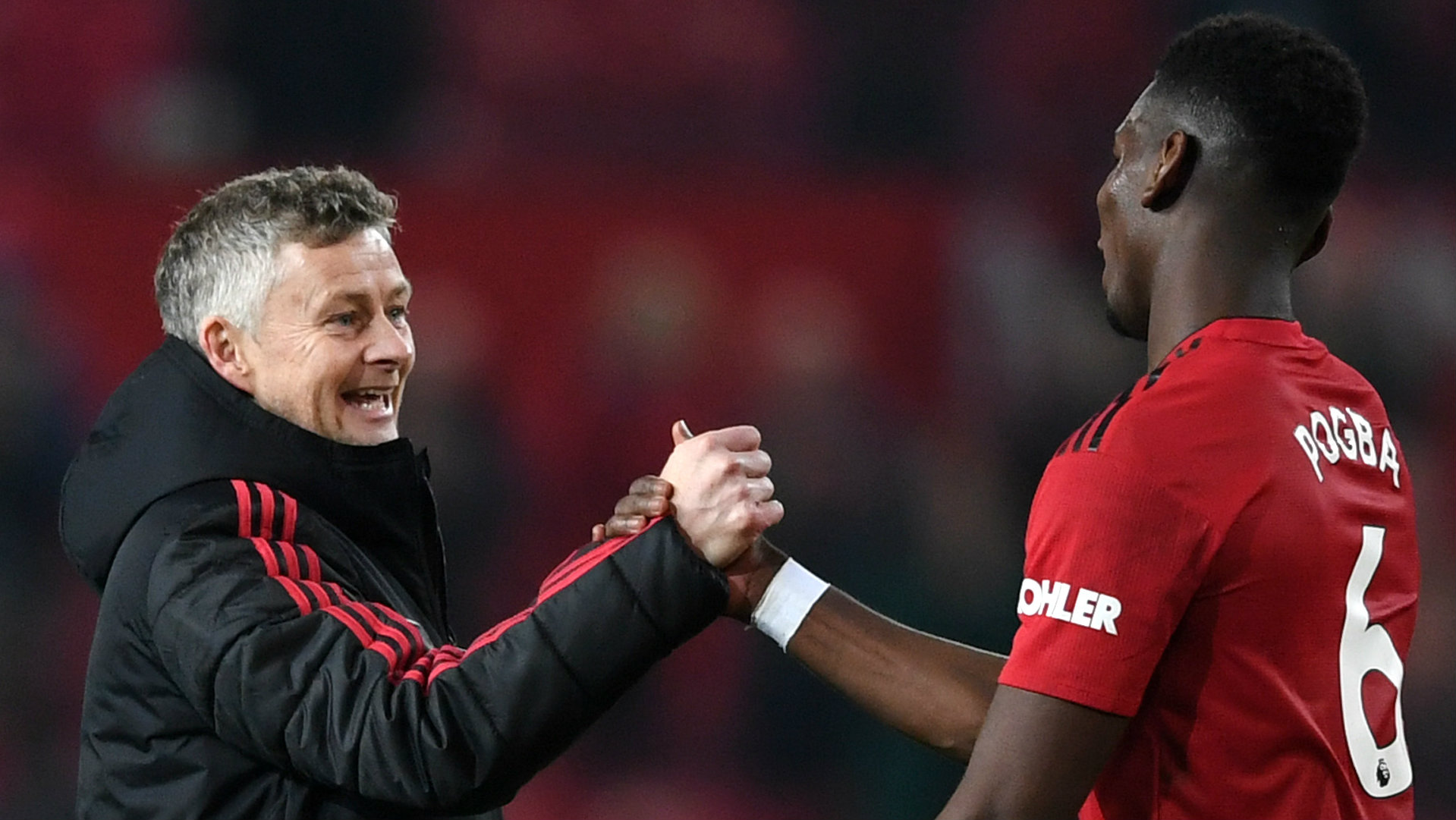 Ole Gunnar Solskjaer and Paul Pogba