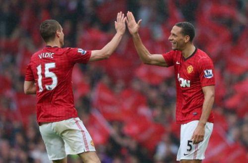 Robin van Persie admires Vidic and Ferdinand