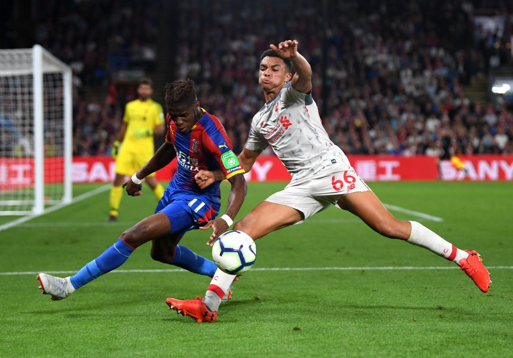 Wilfried Zaha has a good r ecord against Trent Alexander-Arnold