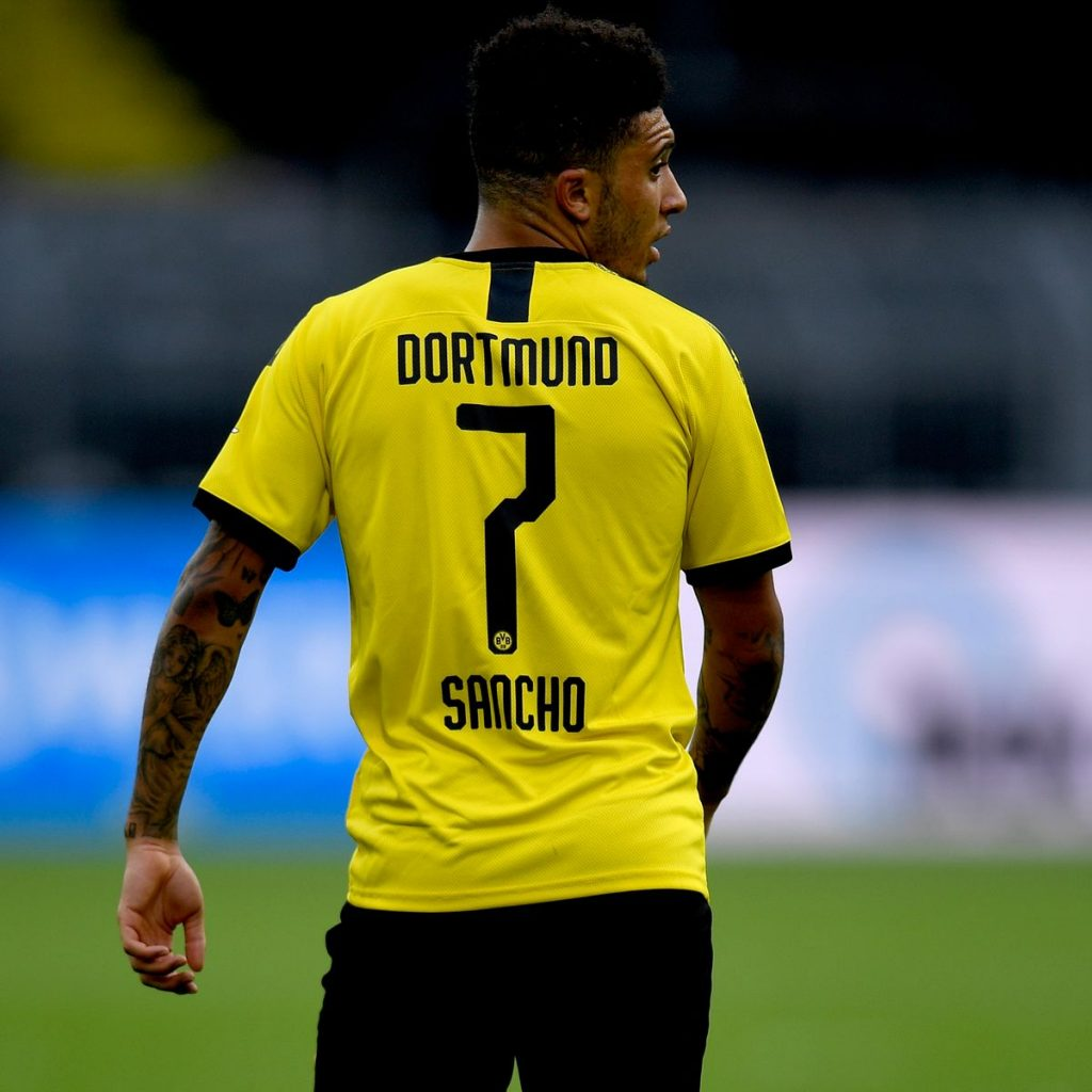 Jadon Sancho remains Manchester United's preferred choice