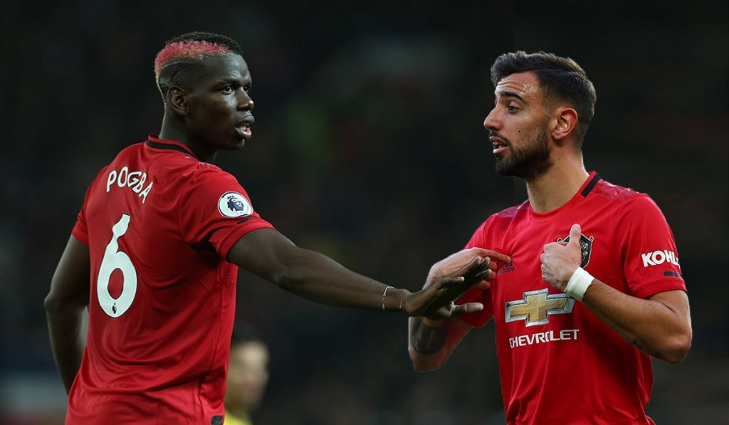 Paul Pogba won the penalty that Bruno Fernandes scored to give Manchester United the lead against Aston Villa.