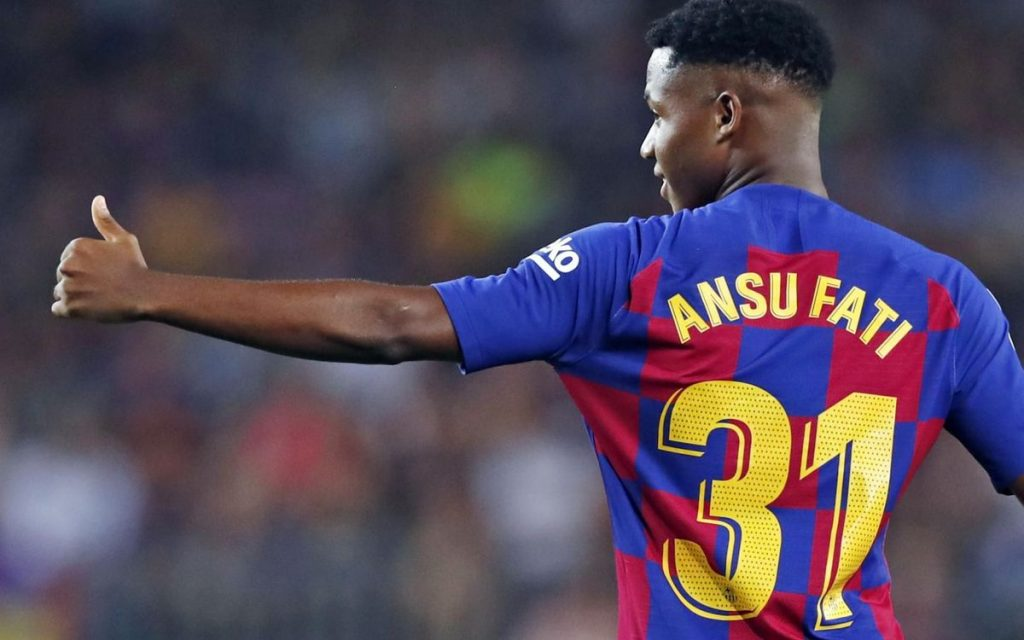 Barcelona president Josep Bartomeu has dismissed the notion that Manchester United have made a bid for Ansu Fati