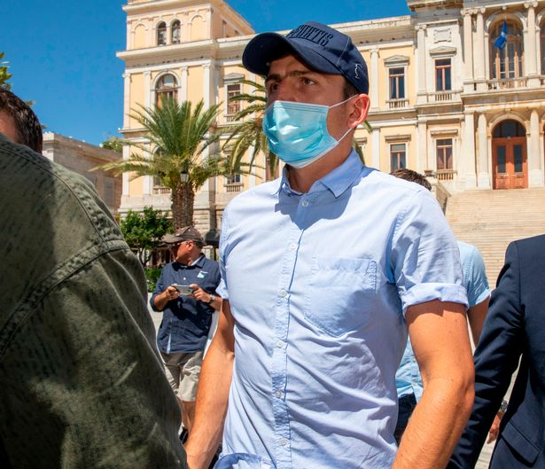 Harry Maguire was arrested while on holiday in Greece