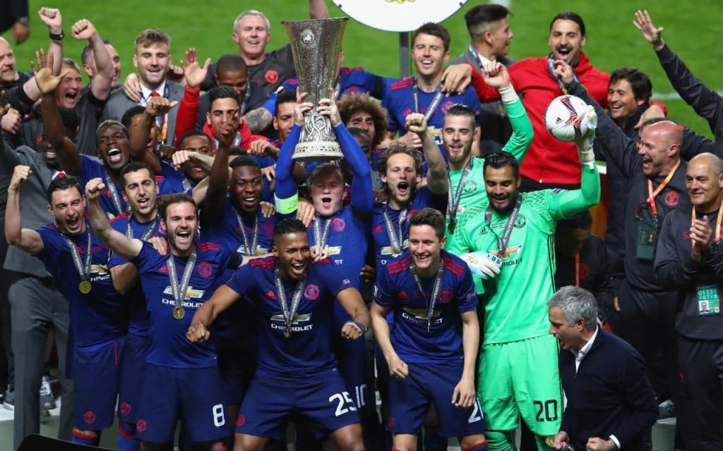 United last won the Europa League in 2017