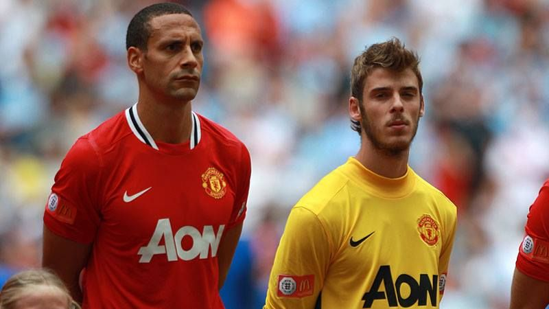 Ferdinand and De Gea were teammates at United for three years