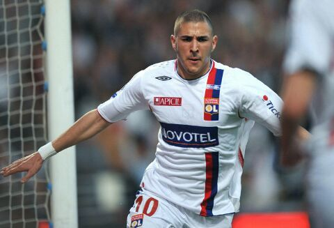 Karim Benzema during his time with Olympique Lyon