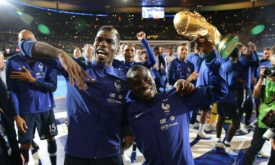 Paul Pogba and N'Golo Kante won the FIFA World Cup with France in 2018