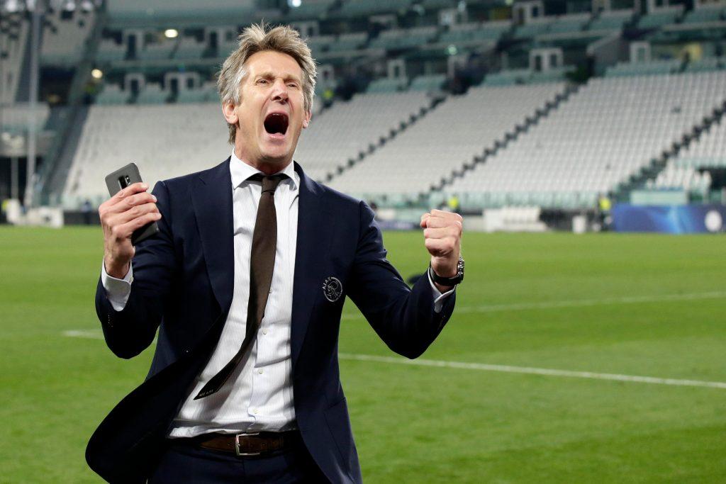 Edwin van der Sar is just doing his job for Ajax Amsterdam