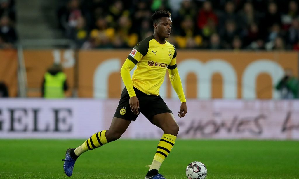 Manchester United are keeping track of Borussia Dortmund defender Dan Axel-Zagadou