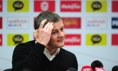 Ole Gunnar Solskjaer in a press conference as Manchester United manager. (GETTY Images)