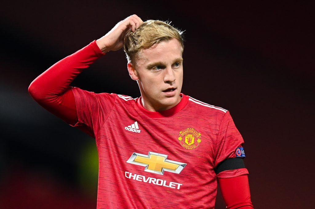 Donny van de Beek is not getting regular starts at Manchester United. (GETTY Images)