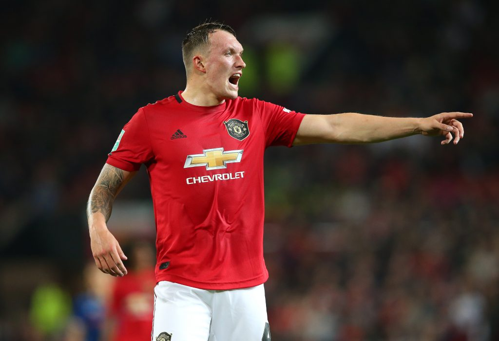 Phil Jones is included in the Premier League squad for Manchester United. (GETTY Images)