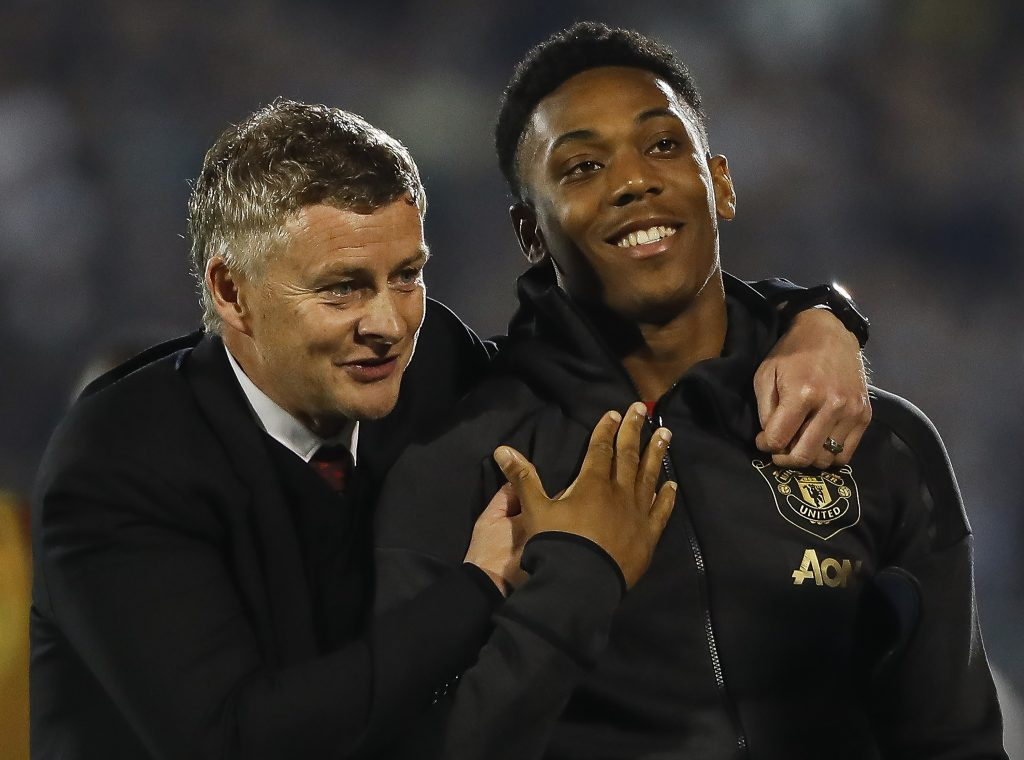 Ole Gunnar Solskjaer is happy that Anthony Martial has regained his confidence in recent weeks. (GETTY Images)