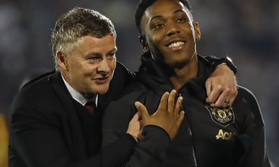 Ole Gunnar Solskjaer with Manchester United striker Anthony Martial. (GETTY Images)