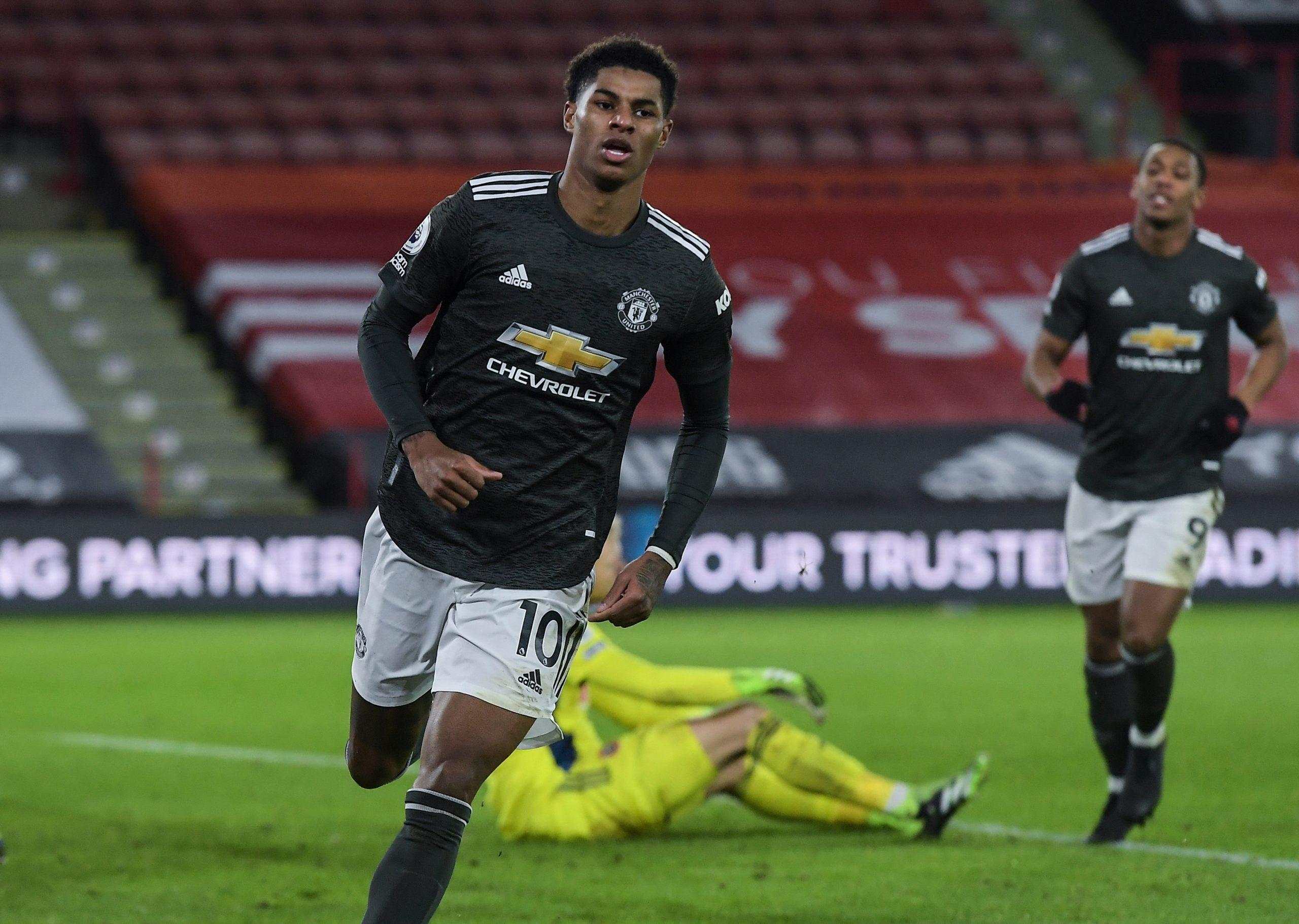 Marcus Rashford scored a brace as Manchester United defeated Sheffield United