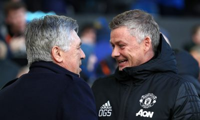 Carlo Ancelotti will come face to face on Wednesday night with Ole Gunnar Solskjaer in the league cup quarter-final. (GETTY Images)