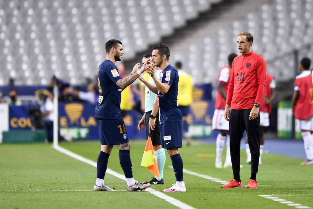 PSG will be without Pablo Sarabia and Mauro Icardi for their calash against United after both of them picked up an  injury in training. (imago Images)