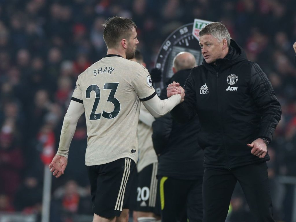 Luke Shaw thanked Manchester United manager Ole Gunnar Solskjaer and Alex Telles for his upturn in form.