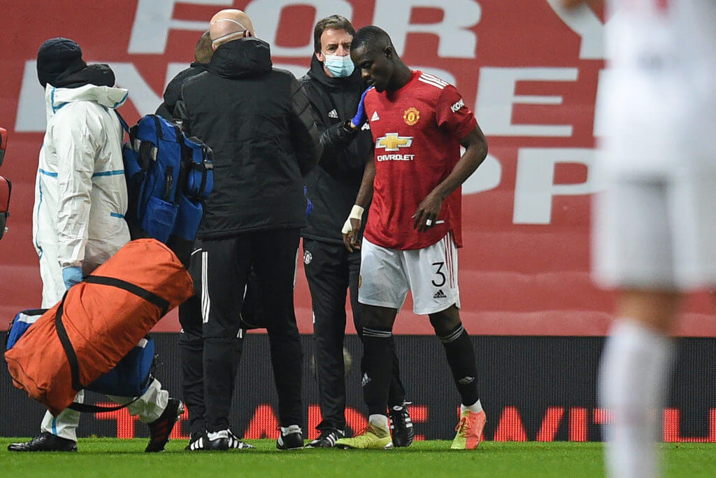 Eric Bailly was forced off the pitch against Watford (Getty Images)