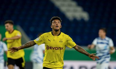 Jadon Sancho in action for Borussia Dortmund. (Image Credits: Borussia Dortmund official website/Twitter)