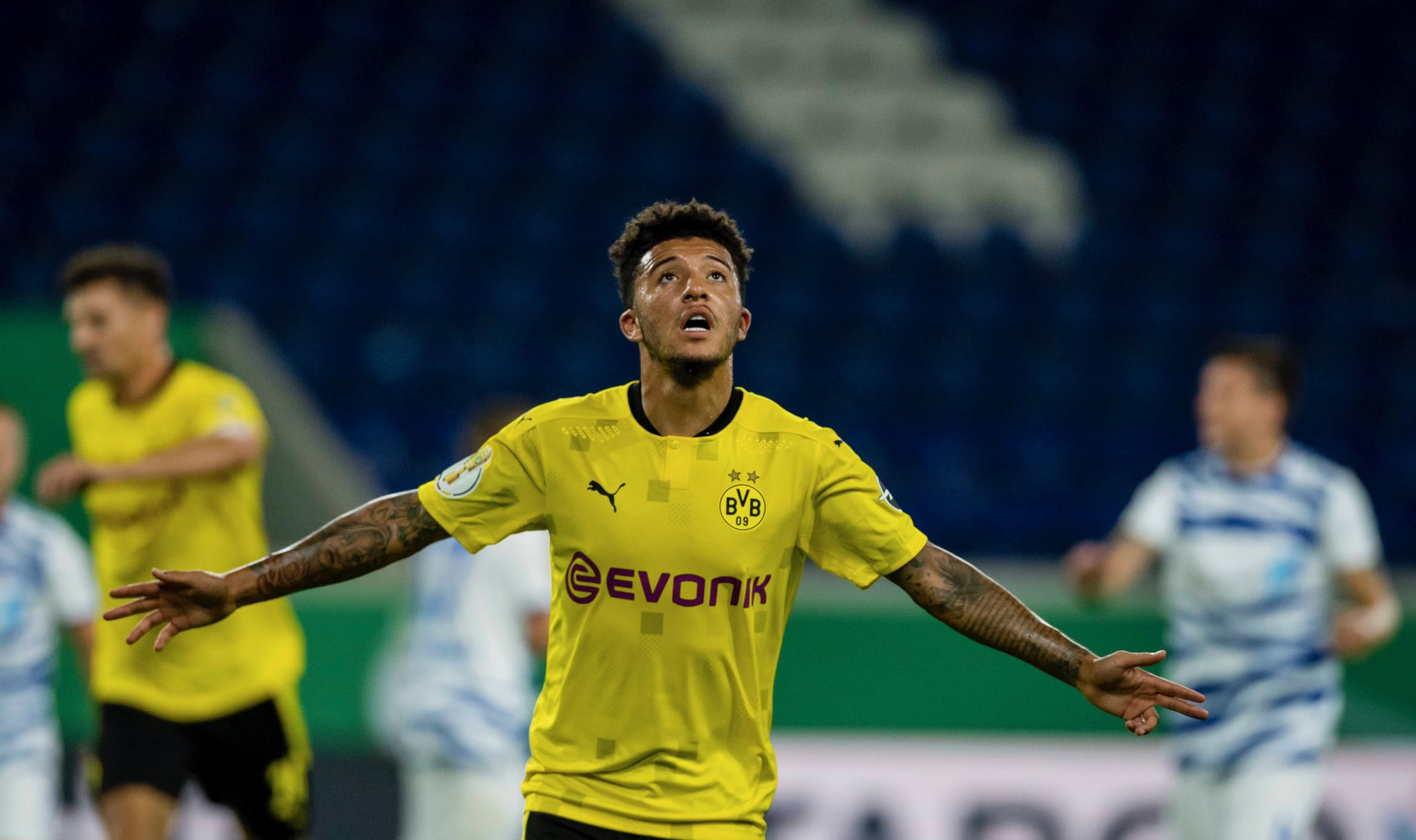 Jadon Sancho is linked with a move to Manchester United.