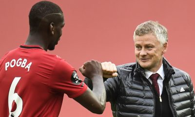 Paul Pogba with Manchester United manager Ole Gunnar Solskjaer. (GETTY Images)