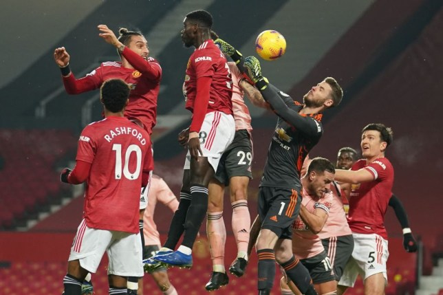 Manchester United conceded from a corner-kick against Sheffield United. (GETTY Images)