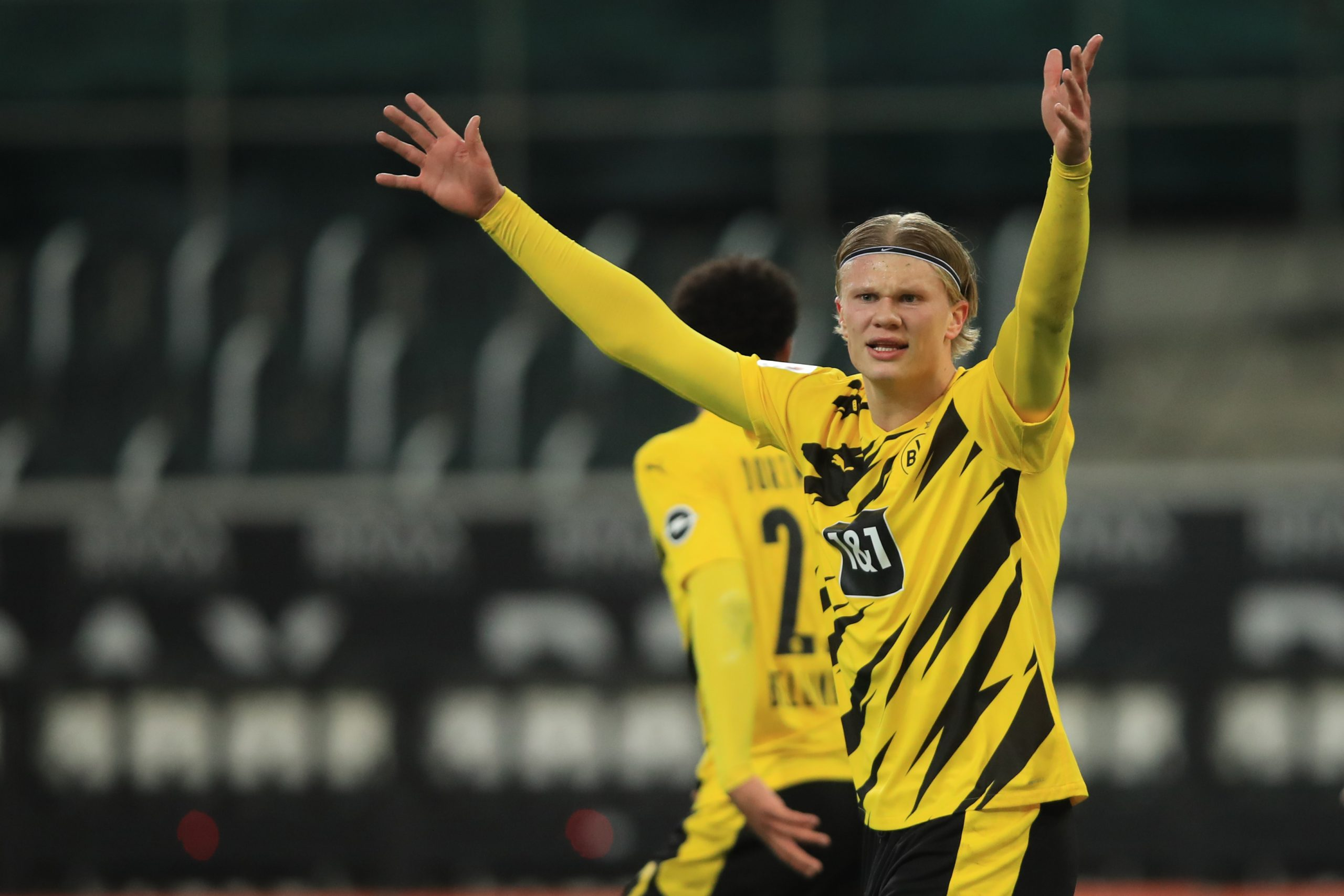 Erling Haaland in action for Borussia Dortmund. (GETTY Images)