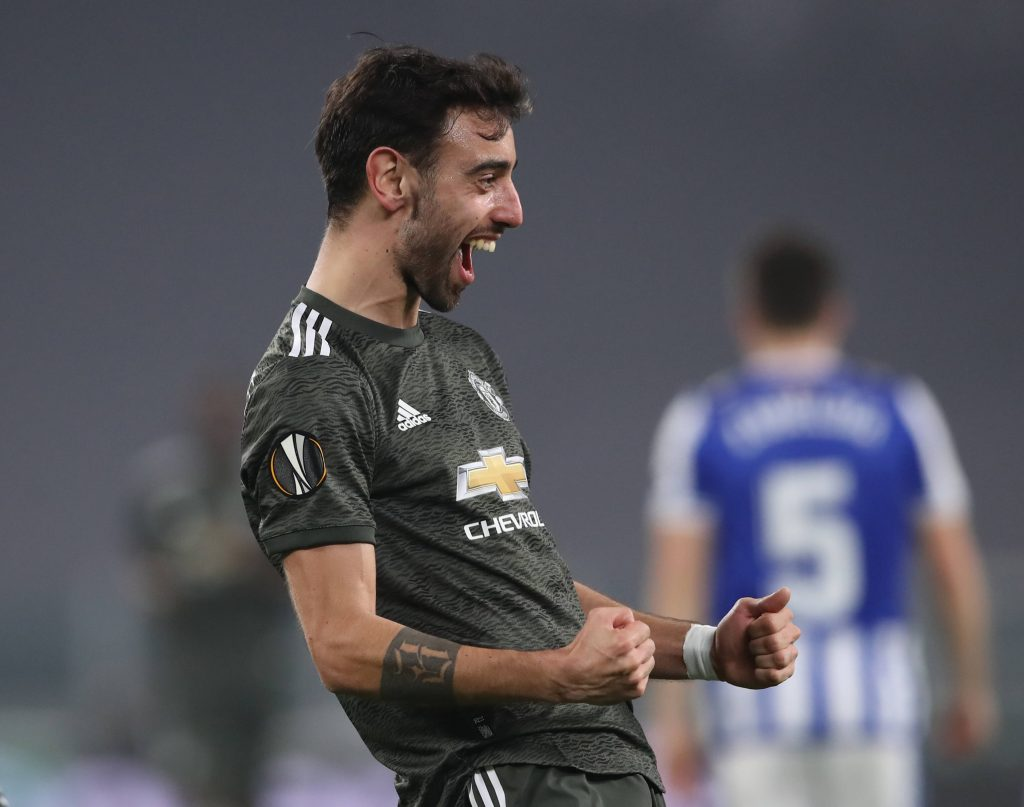 Manchester United star Bruno Fernandes agrees with a pro-status-quo post on ESL on Instagram