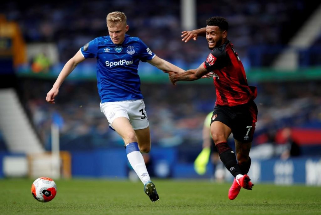 Manchester United are interested in promising Everton youngster Jarrad Branthwaite