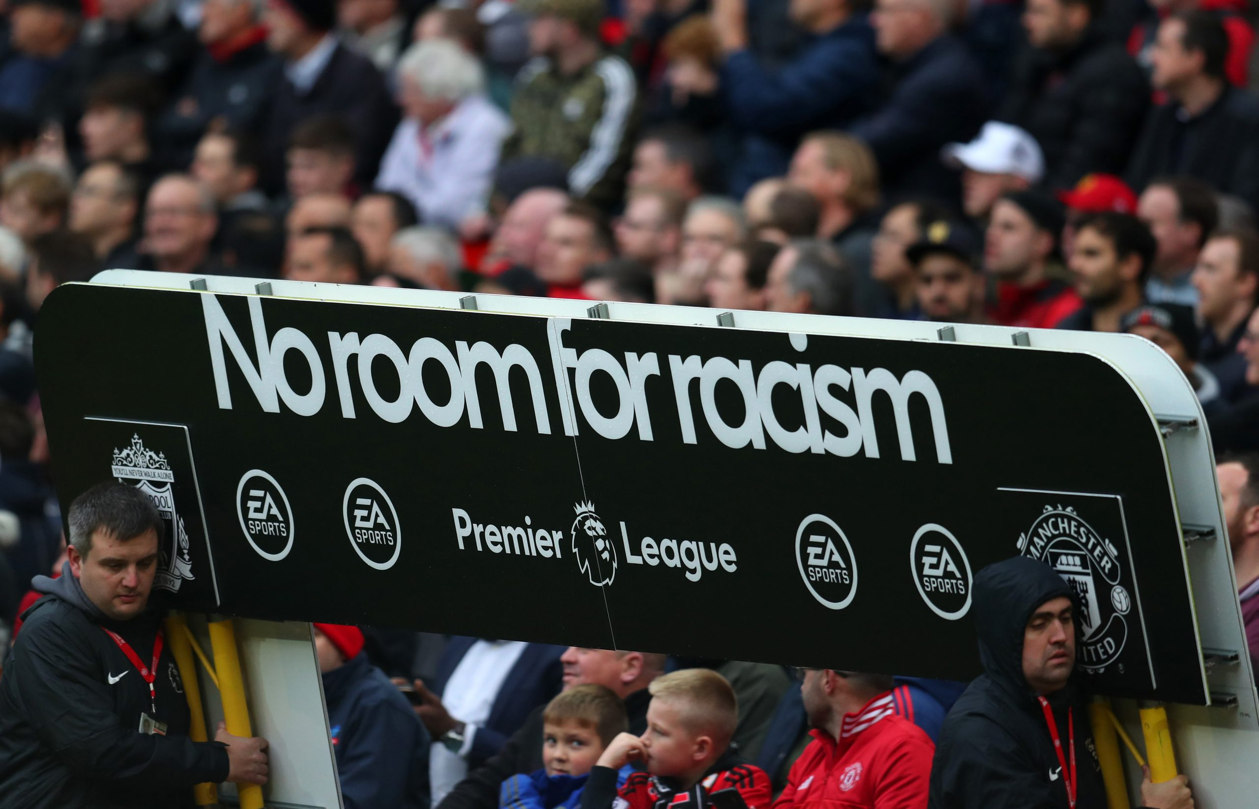 Manchester United, Manchester City, Liverpool, and Everton stand together to combat racism in football for Hate Crime Awareness week. (GETTY Images)
