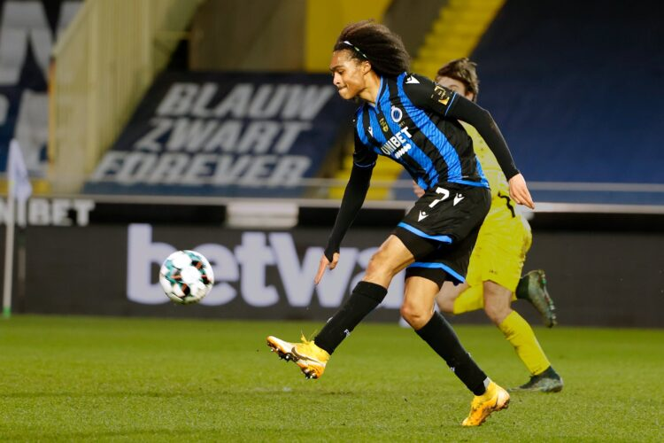 Manchester United loanee Tahith Chong impresses for Club Brugge on full league debut. He made an assist and won a penalty.