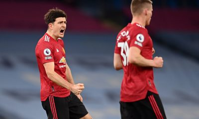 Ole Gunnar Solskjaer defended Manchester United captain Harry Maguire for shouting instructions at teammates, including Aaron Wan-Bissaka. (imago Images)
