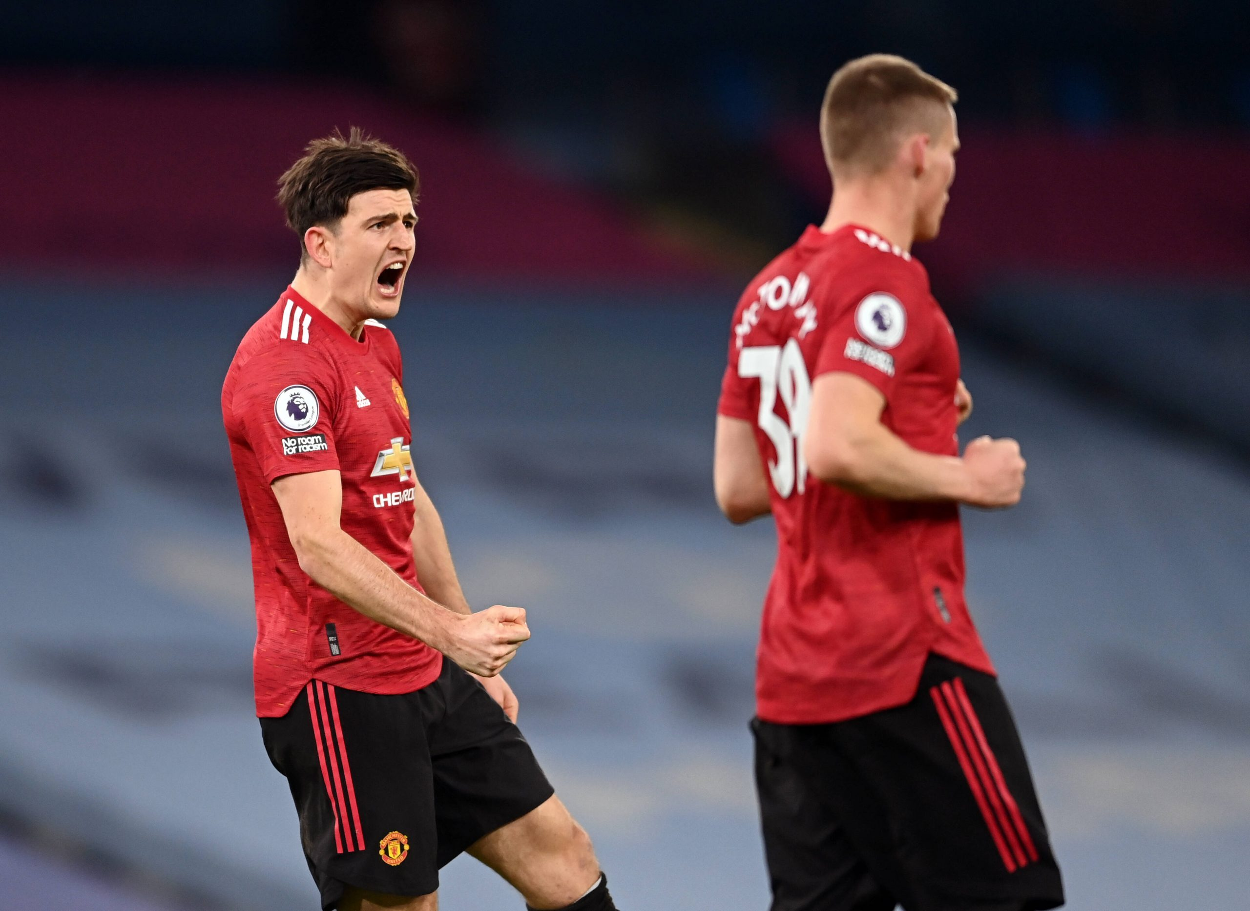 Ole Gunnar Solskjaer defended Manchester United captain Harry Maguire for shouting instructions at teammates, including Aaron Wan-Bissaka. (imago Images)