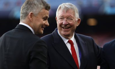 Manchester United manager, Ole Gunnar Solskjaer, with Sir Alex Ferguson. (imago Images)