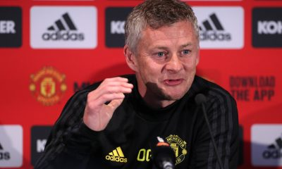 Ole Gunnar Solskjaer in a press conference at Manchester United. (imago Images)