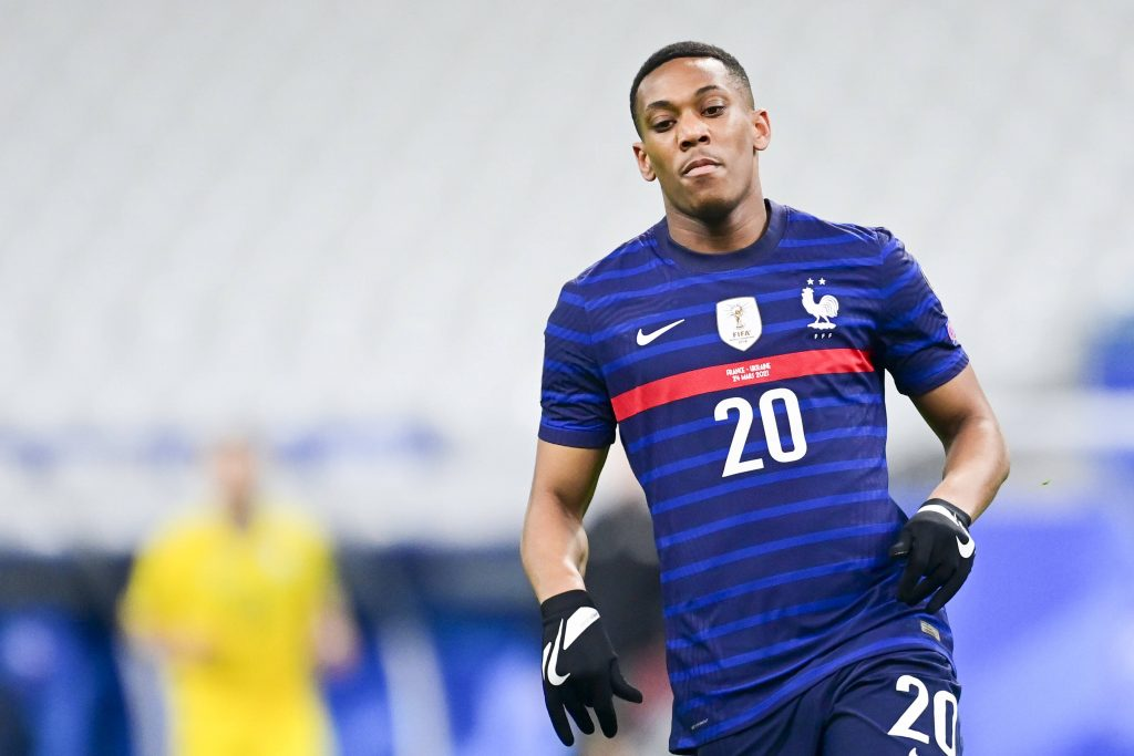 France international, Anthony Martial, in action against Ukraine. (imago Images)